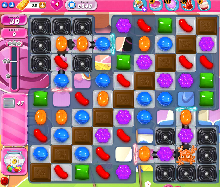 Candy Crush Saga level 2542
