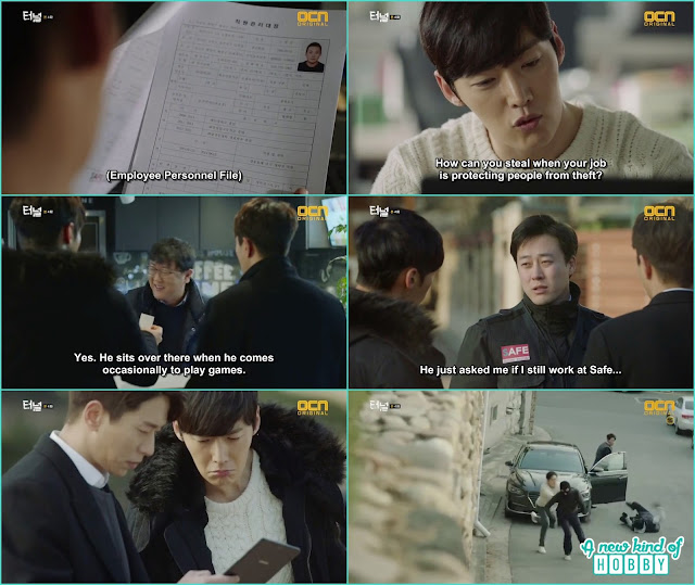 sun jae and gwang ho caught the thiefs at the robbery scene -  Tunnel: Episode 4