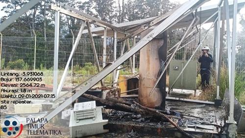 Kembali Berulah, KKB Bakar Dua Pemancar Telkom di Puncak Papua