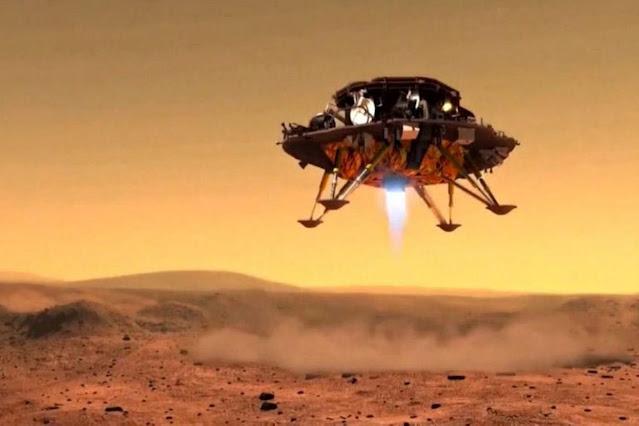 Rover Zhurong da missão Tianwen-1 em Marte
