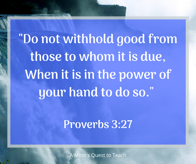 Proverbs 3:27 quote