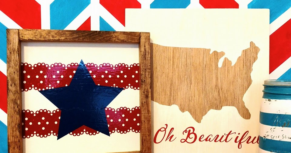 Red White And Blue Vinyl Sign Crafting In The Rain