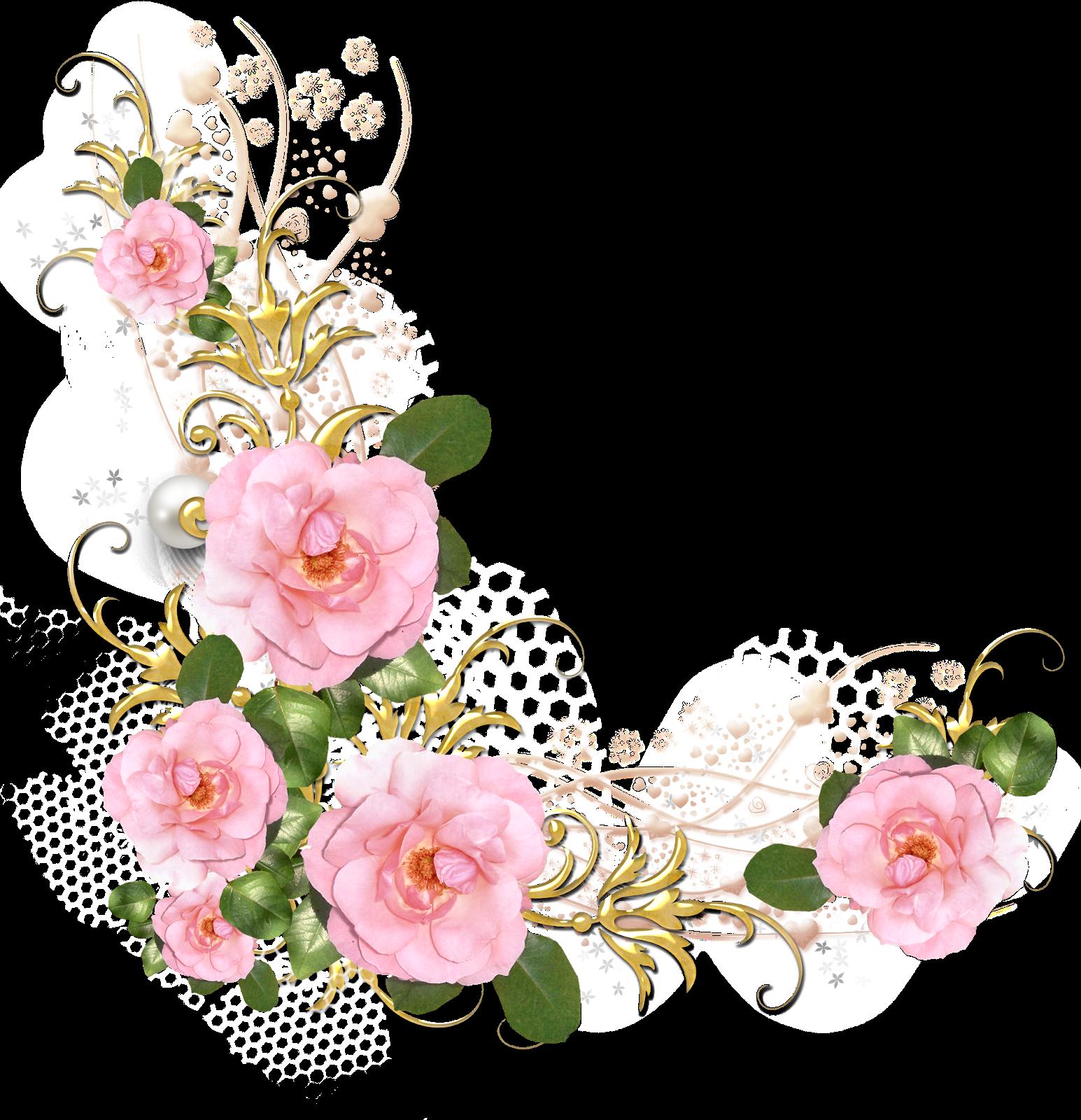 colección de gifs marcos esquineros para fotos de flores