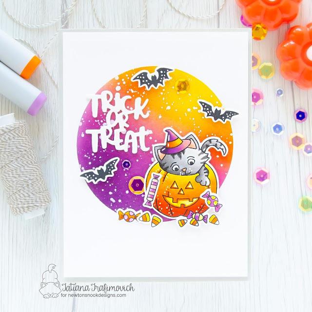 Halloween Card bby Tatiana Trafimovich | Trick or Treat Kittens Stamp Set by Newton's Nook Designs #newtonsnook #handmade