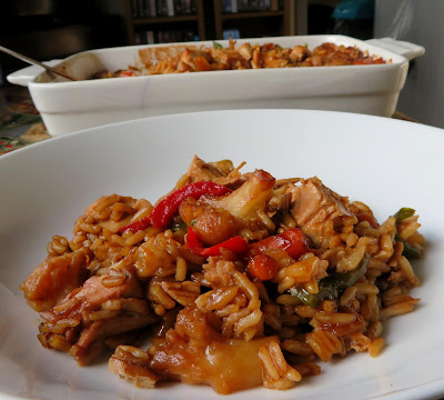 Teriyaki Chicken & Rice Casserole