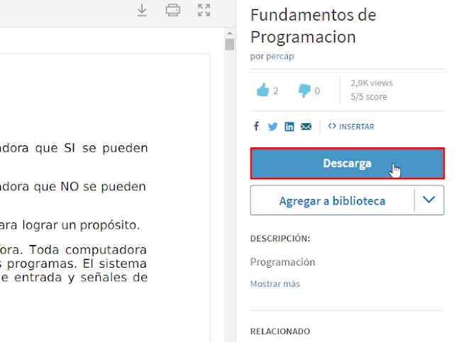descargar documentos de Scribd Gratis con docdownloader
