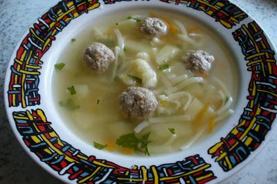 суп овощной с фрикадельками
