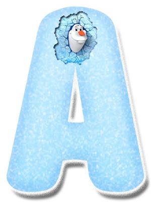 Abecedario de Olaf de frozen