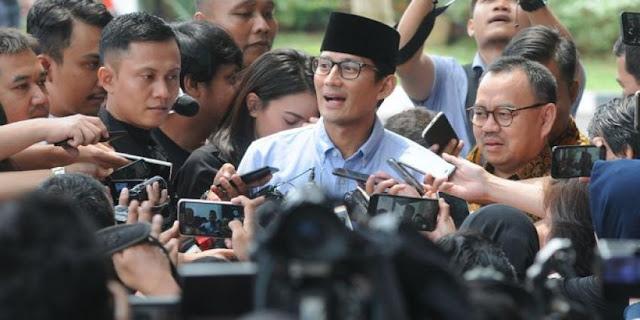Bos Kadin dan Hipmi Merapat ke Jokowi, Sandi Nyantai