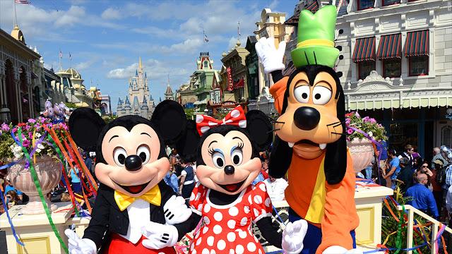 Personagens da Disney em Orlando