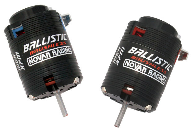 Novos motores Novak high-RPM Ballistic