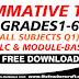 Summative Test Grades 1-6 All Subjects Q1