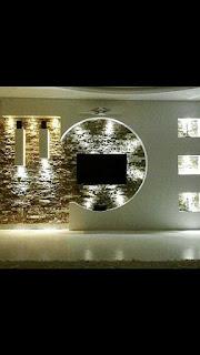 ديكور جبس للشاشه, جبس بورد, ديكورات جبس, جبس, ديكورات شاشات بلازما على الحائط