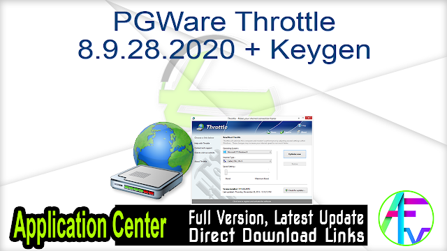 PGWare Throttle 8.9.28.2020 + Keygen