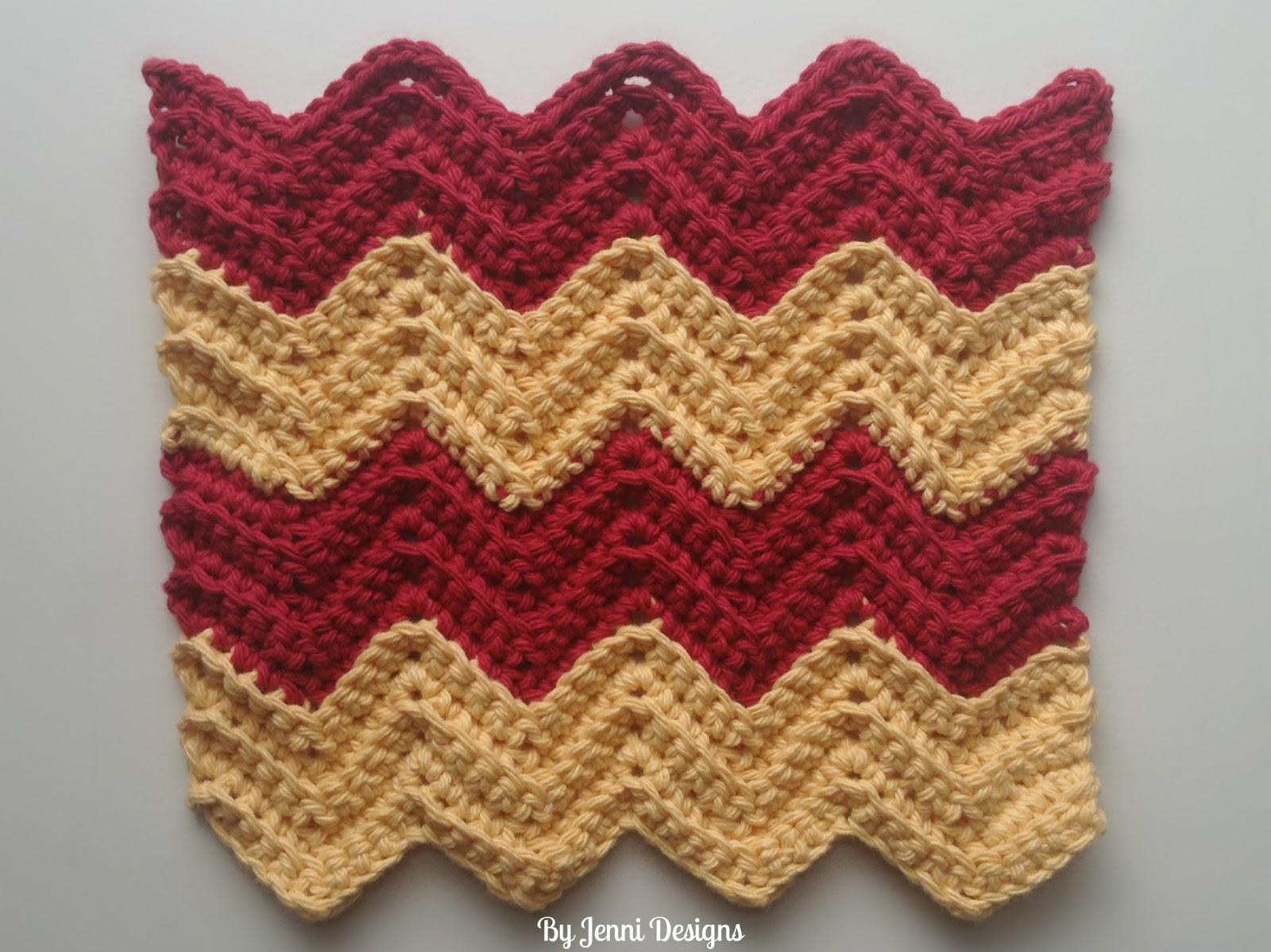 By Jenni Designs: Free Crochet Pattern: Chevron Rag or Pot Holder