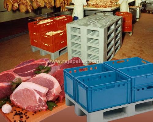 Pallet Plastik Untuk Sektor Industri Daging
