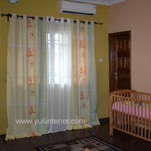 Kids Room Eyelet Curtains