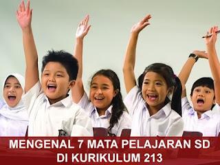 7 Mata Pelajaran SD di Kurikulum 2013