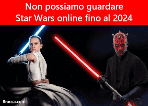 Non puoi guardare Star Wars online perché Disney ha venduto i diritti fino al 2024