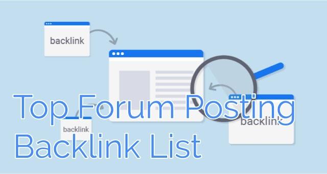 Top 250+ High PR9 Forum Posting Backlink Website List 2020
