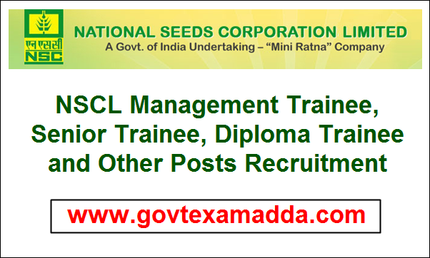 NSCL Management Trainee, Senior Trainee, Diploma Trainee and Other Posts Recruitment 2020