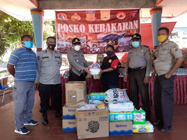 Handry Bawiling Serahkan Bantuan Polsek Jayapura Utara Peduli Korban Kebakaran Dok IX