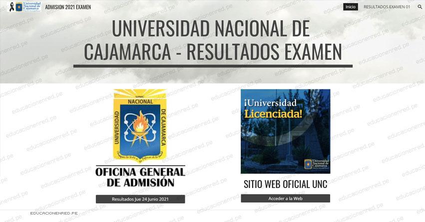 Resultados Admisión UNC 2021-1 (Jueves 24 Junio) Lista de Ingresantes - Examen Presencial - Universidad Nacional de Cajamarca - Jaén - Chota - Celendín - Cajabamba - Bambamarca - www.unc.edu.pe