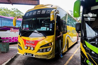 Reisebus von Malaysia nach Singapur www.WELTREISE.tv