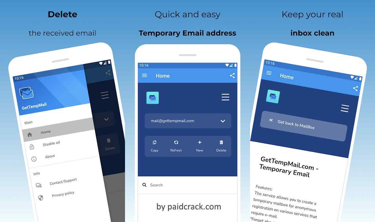 GetTempMail Pro Mod Apk 1.0.3 [Paid]