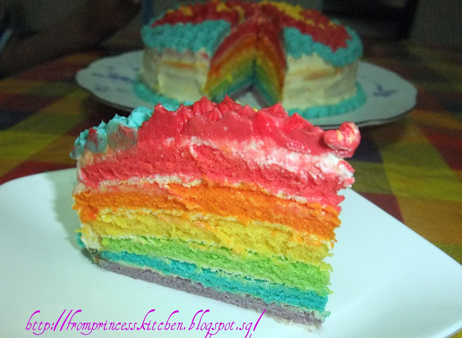 Resep Rainbow Cake Jtt: COOKING WITH LOVE: RAINBOW CAKE WITH CREAM CHEESE FROSTING