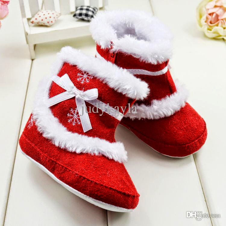 Christmas Boots For Girls.The Magic Of Fashion Christmas Shoes