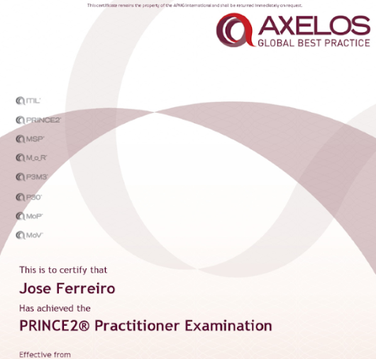 Scrum and Prince2 integration by Jose FERREIRO, certified PRINCE2 PRACTITIONER