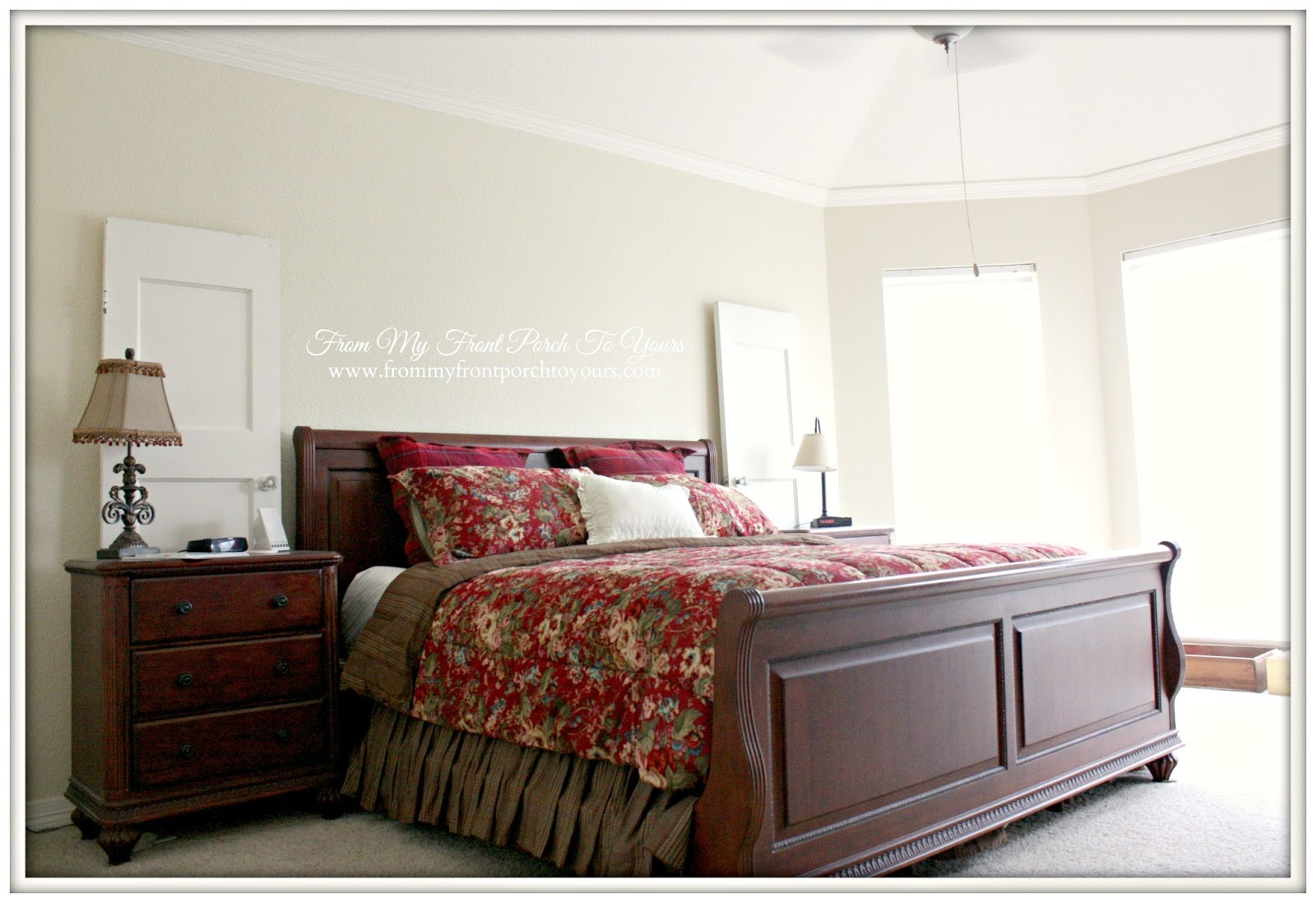 From My Front Porch To Yours Master Bedroom Makeover Before:Sherwin-Williams Harmony Paint