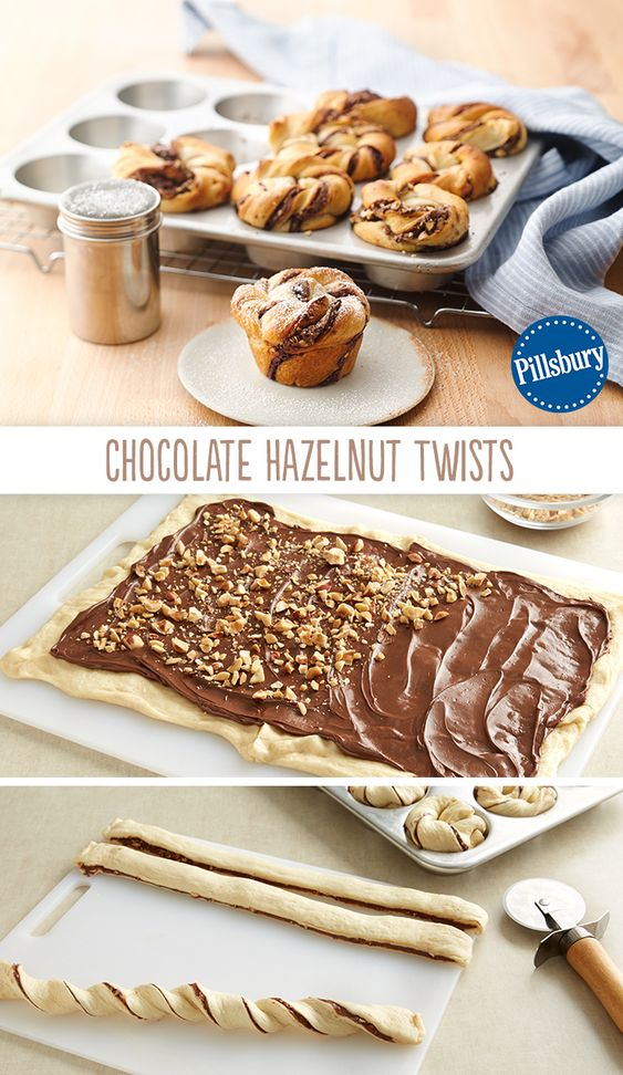 Chocolate Hazelnut Twists