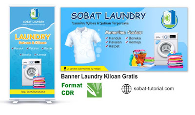 Download Banner Laundry Format CDR