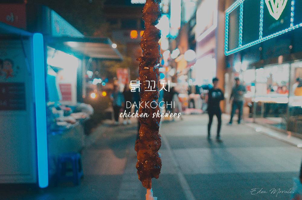 Uncovering-Eden-Food-In-Myeongdong-South-Korea-Dakkochi-Chicken-Skewers