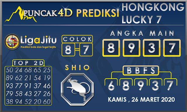 PREDIKSI TOGEL HONGKONG LUCKY7 PUNCAK4D 26 MARET 2020
