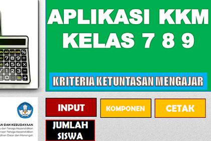 Aplikasi KKM Kurikulum 2013 SMP Kelas 7 format Excel