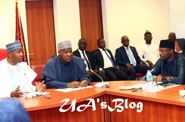 Details of Saraki, Dogara, INEC chairman meeting emerge
