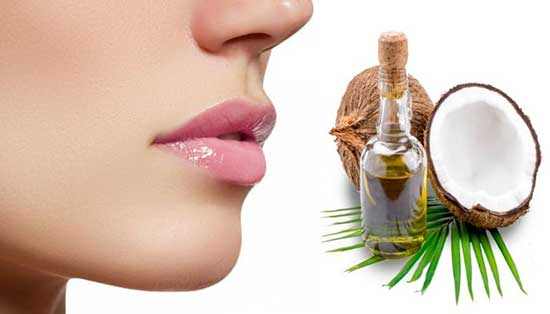 Apply Coconut oil to your lips