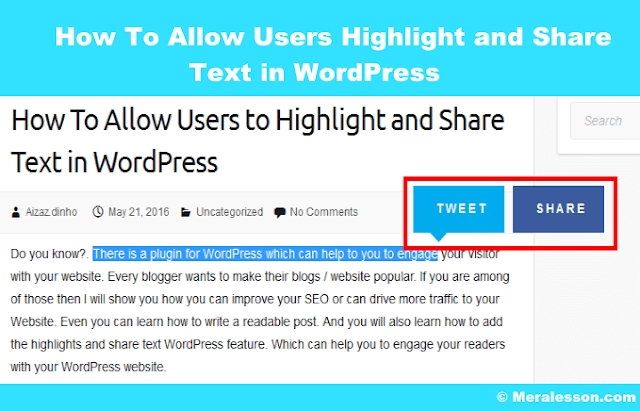 allow your visitors to share your text and qutoes