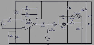 Skema Rangkaian Pendeteksi Sinyal Elektromagnetik