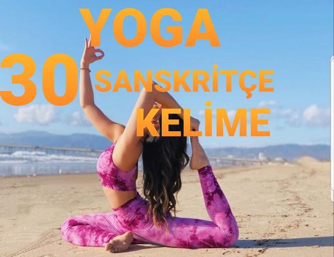 Yoga Tanımlı ve Açıklamalı Olarak Kullanılan 30 Sanskritçe Kelime