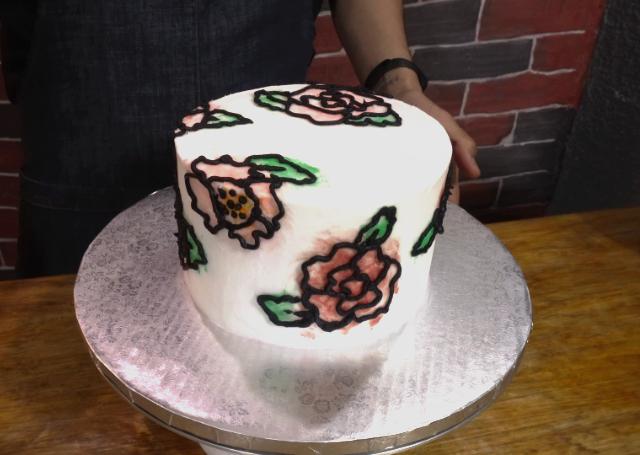 Decoración de pastel con BUTTERCREAM estilo ACUARELA