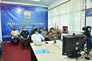Pj.Sekda Ikuti Vicon Lomba Inovasi Daerah Penyiapan Tata Normal Baru
