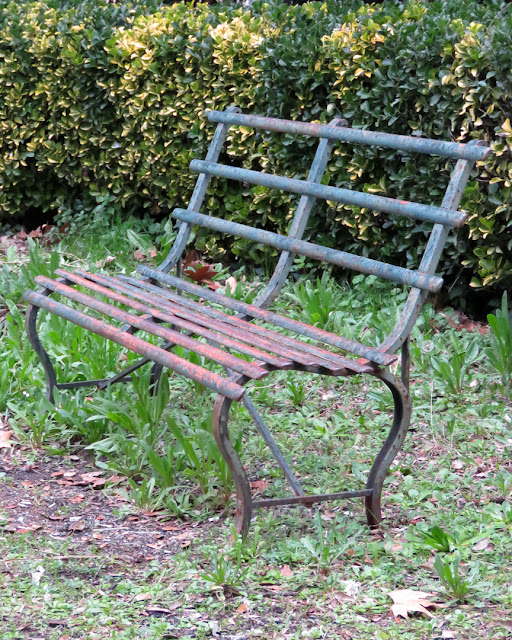 Old iron bench, Viale Alfieri, Livorno