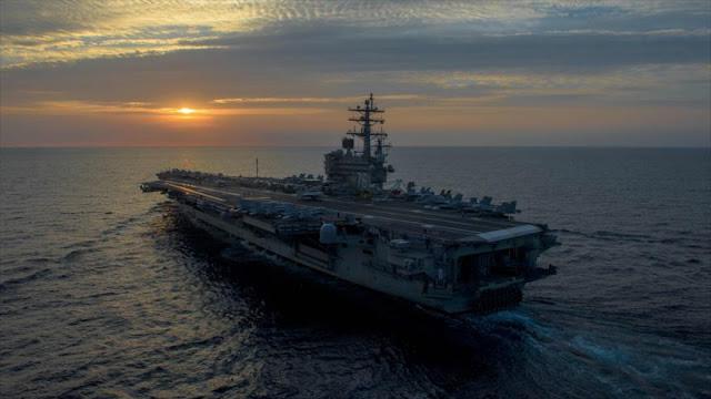 Dos portaviones de EEUU maniobran cerca de la península de Corea