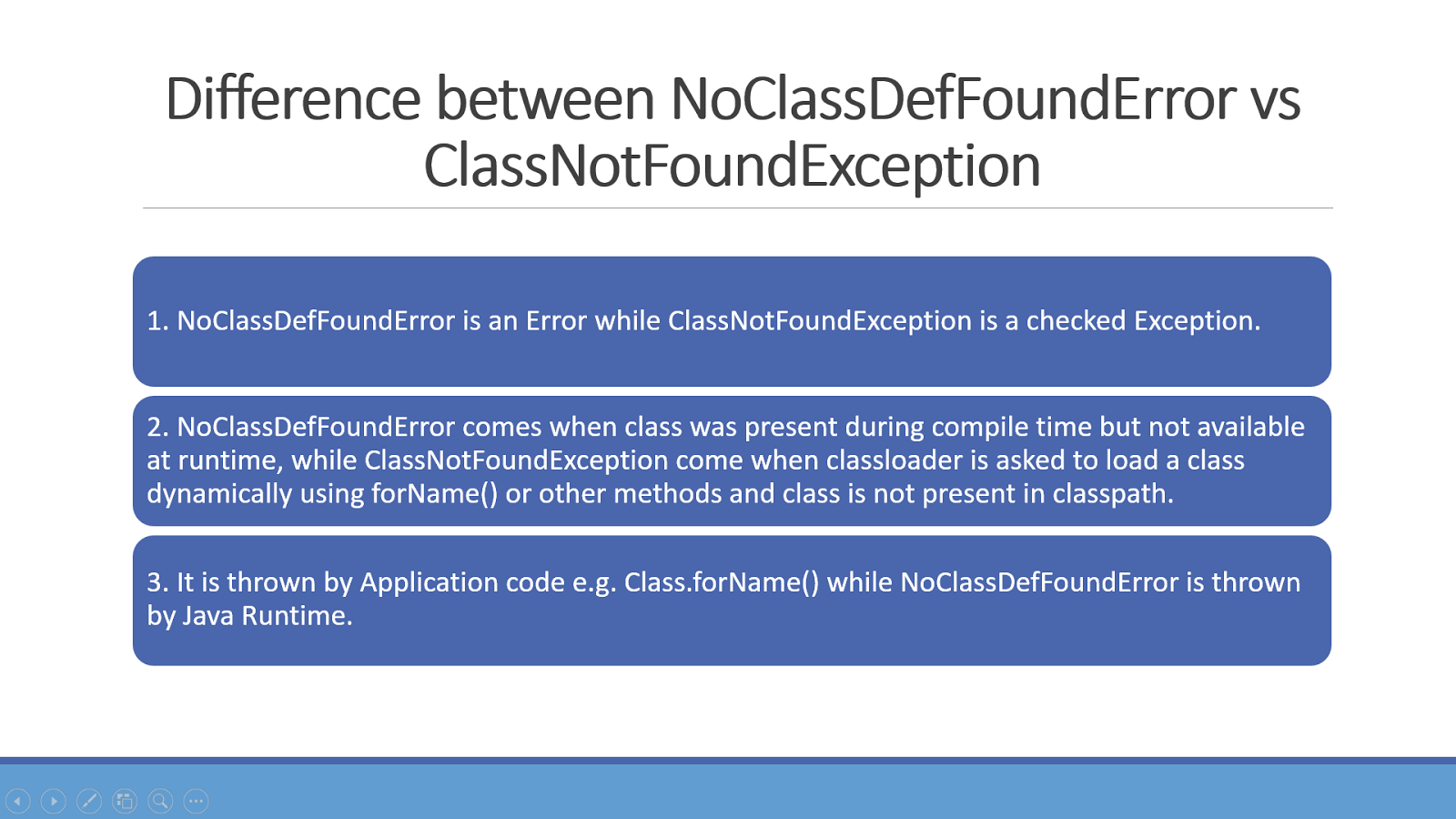 Difference Between Nocldeffounderror And Clnotfoundexception Java