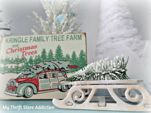 Creating Christmas: A Very Thrifty Christmas mythriftstoreaddiction.blogspot.com Magical Christmas tree farm created with upcycled thrift store trees