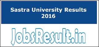 Sastra University Result 2016